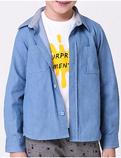 Boy Casual/Daily Solid Jacket & Coat,Others Winter Spring Fall Long Sleeve