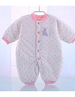 Baby Casual/Daily Solid Polka Dot One-Pieces,Cotton Fall Long Sleeve