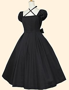 /שמלותחתיכה אחת לוליטה מתוקה רוקוקו Cosplay שמלות לוליטה אחיד שרוול קצר אורךTea שמלה ל כותנה