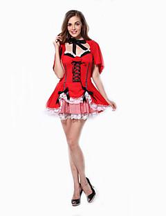 Cosplay Kostuums Feestkostuum Dienstmeisje Pakken carrière Kostuums Film cosplay Rood Effen Kleding Halloween Carnaval Vrouwelijk