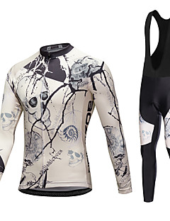 AOZHIDIAN Spring/Summer/Autumn Long Sleeve Cycling JerseyLong Bib Tights Ropa Ciclismo Cycling Clothing Suits #AZD052