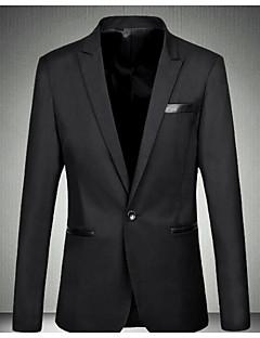 Herren Solide Einfach Street Schick Ausgehen Lässig/Alltäglich Blazer,Hemdkragen Frühling Sommer Langarm Standard Baumwolle
