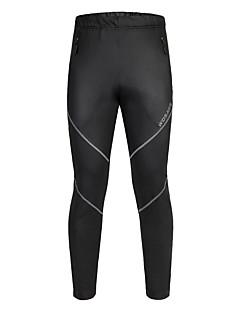 Wosawe® יוניסקס עמיד למים נושם שמור על חום הגוף עמיד בטנת פליז מוגן מגשם אופניים מכנסיים תחתיות פוליאסטר 100% פוליאסטררכיבה על