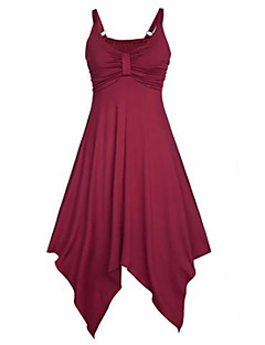 Women's Casual/Daily / Party Vintage / Street chic Sheath Dress,Jacquard Round Neck Above Knee ¾ Sleeve Red Rayon / PolyesterAll