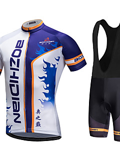 AOZHIDIAN Summer Cycling Jersey Short Sleeves BIB Shorts Ropa Ciclismo Cycling Clothing Suits #AZD056