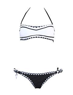 Damen Tankinis - Geometrisch Nylon / Polyester Stirnband