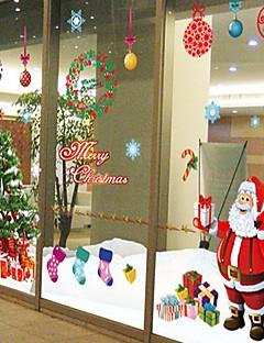 Noël Romance Vacances Stickers muraux Autocollants avion Autocollants muraux décoratifs,Papier Matériel Amovible Décoration d'intérieur