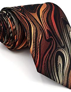 Для мужчин Винтаж Очаровательный Для вечеринки Для офиса На каждый день Галстук,Искусственный шёлк Геометрический принт,ОранжевыйВсе
