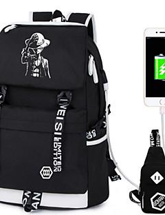 Unisex Bag Sets Oxford Tuch Ganzjährig Sport Alltag Im Freien Duffel Bag Reißverschluss Schwarz Grau