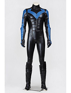 Cosplay Kostumer Halloween Utstyr Party-kostyme Maskerade Superhelter Batter Cosplay Film-Cosplay Svart Blå Jacquard