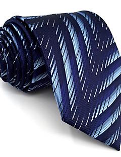 Hombre Corbata Vintage Bonito Fiesta Trabajo Casual-Rayón Geométrico-Azul Todas las Temporadas