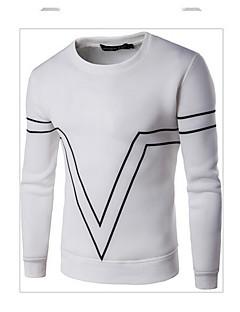 Heren Actief Eenvoudig Casual/Dagelijks Sweatshirt Kleurenblok Ronde hals Micro-elastisch Katoen Lange mouw Herfst Winter