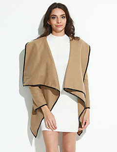Winter Women's Solid Color Multi-color Coats & Jackets , Sexy / Casual / Work Asymmetrical Long Sleeve