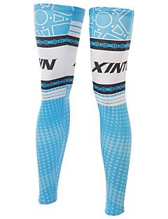 다리 따뜻하게 자전거 통기성 빠른 드라이 자외선 방지 절연 안티 발광 착용 가능한 땀 흡수 기능성 소재 선크림 여성의 남성의 남녀 공용 블루 엘라스틴 테릴렌