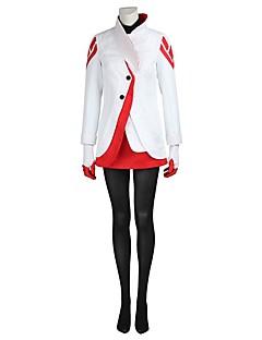 Вдохновлен Воин Ace видео Игра Косплэй костюмы Косплей Костюмы Косплей вершины / дна Однотонный Белый Пальто Кофты Перчатки Чулки