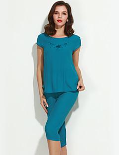 Damen Pyjama - Baumwolle / Leinen