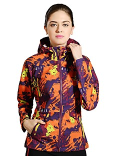 Hiking Softshell Jacket Women's Waterproof Breathable Quick Dry Windproof Ultraviolet Resistant Reflective StripsSpring Fall/Autumn