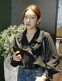 koreansk chic stil Jianling legende stykke svamp blonde skjorte revers dobbeltradet dukke
