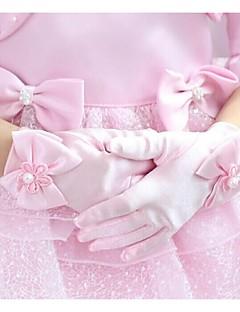 Damer Bomuld Fingerspidser Håndledslængde,Ensfarvet Fest Alle årstider