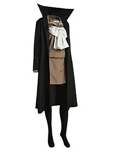 קיבל השראה מ Shakugan no Shana Shana אנימה תחפושות קוספליי חליפות קוספליי טלאים שחור שרוולים ארוכים מעיל / עליון / חצאית / סרט
