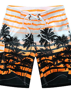 Men's Plus Size Loose Sweatpants Shorts Pants,Casual/Daily Beach Sports Boho Active Print Color Block Patchwork Mid RiseDrawstring
