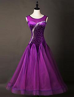 Budeme taneční šaty taneční šaty dámské provedení chinlon organza krystaly / rhinestones 1 kus bez rukávů