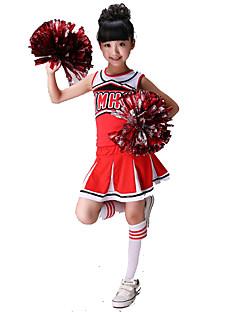 תלבושות למעודדות לילדים ספנדקס 2 חלקים בלי שרוולים טבעי חצאיות עליוניות