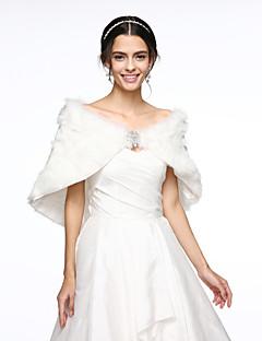 Stole da donna Mantelline Pizzo Pelliccia ecologica Matrimonio Da sera Con fiori Pizzo Fantasia