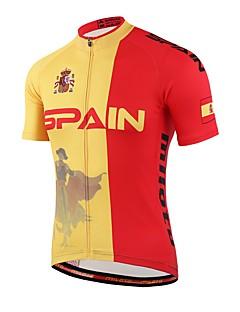 חולצת ג'רסי לרכיבה יוניסקס שרוול קצר אופניים חומרים קלים תומך זיעה נוח ג'רזי Coolmax אביב קיץ סתיו רכיבה על אופניים/אופנייים