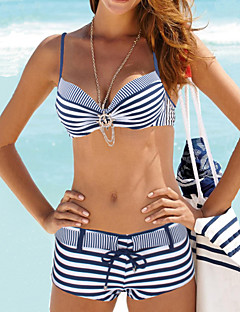 Womens Halter Push Up Tribal Pattern with Crystals Bandeau Bathing Suit Bikini