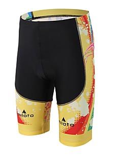 Miloto מכנס קצר מרופד לרכיבה יוניסקס אופניים שורטים (מכנסיים קצרים) מרופדים דחיסה 3D לוח מפחית שפשופים ספנדקס LYCRA®רכיבה על