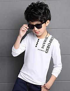 Fritid/hverdag T-skjorte Trykt mønster Bomull Rayon Sommer Vår Langermet