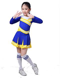 Kostýmy pro roztleskávačky Úbory Dětské Výkon elastan Nařasený 2 kusy Dlouhé rukávy Sukně horní a dolní část)
