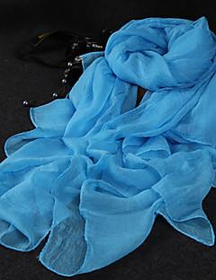 Damen Niedlich Party Freizeit Chiffon Schal,Rechteck einfarbig Sommer Herbst Ganzjährig Schwarz Weiß Blau Rosa Gelb Grau Orange