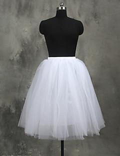 Slips A-Line Slip Ball Gown Slip Knee-Length 4 Tulle Netting White Black Red