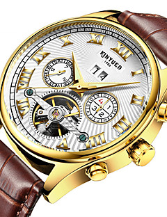 KINYUED Homens Relógio Elegante Relógio Esqueleto Relógio de Moda Relógio de Pulso relógio mecânico Automático - da corda automáticamente
