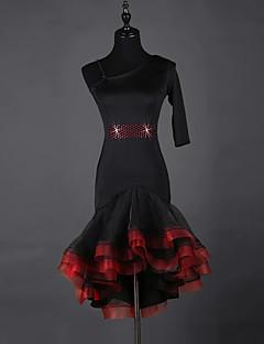 Latin dans elbiseleri, kadınlar, spandex organze, 1 parça, elbise