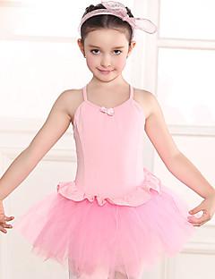 Danse classique Robes Enfant Entraînement Coton Dentelle 1 Pièce Manche courte Taille moyenne Collant