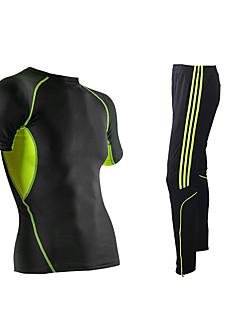 לגברים שרוול קצר ריצה צמרות תחתיות נושם קיץ בגדי ספורט כושר גופני מירוץ משוחרר שחור קלאסי