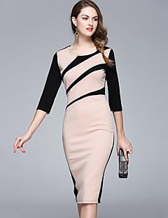 08fa33ed437bf Kadın Parti Dışarı Çıkma Seksi Sevimli Sokak Şıklığı A Şekilli Elbise Kırk  Yama Yuvarlak Yaka Diz