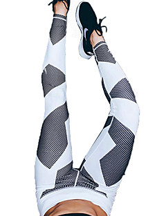 Yoga Pants Pants/Trousers/Overtrousers Breathable Compression Sweat-wicking Comfortable Natural Stretchy Sports Wear White Women'sYoga