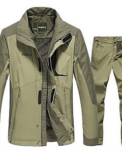 לגברים ג'קט מכנסיים מדים בסטים ריצה עמיד למים שמור על חום הגוף עמיד נגד חשמל סטטי נוח עבה סתיו צהוב שחור ירוק צבאיM L XL XXL XXXL