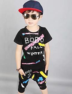 Drenge Indstiller I-byen-tøj Afslappet/Hverdag Formelle Trykt mønster,Bomuld Sommer Kortærmet Tøjsæt