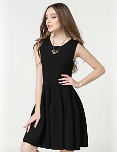 Γυναικείο Καθημερινά Κομψό στυλ street Εφαρμοστό Φόρεμα,Μονόχρωμο Κοντομάνικο Στράπλες Πάνω από το Γόνατο Πολυεστέρας Άνοιξη Φθινόπωρο