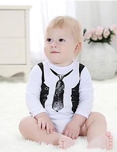 bebê Peça Única Casual Formal Férias Estampado Todas as Estações Primavera Outono Algodão Manga Longa