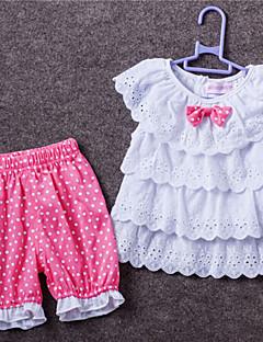 Baby Ausgehen Lässig/Alltäglich Schule einfarbig Punkte Kleidungs Set,Punkte Spitze Ganzjährig