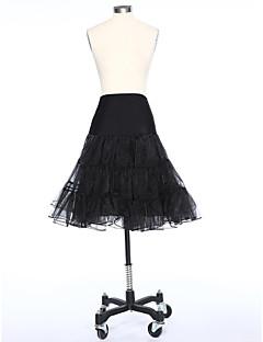 Déshabillés Robe trapèze Longueur courte 2 Satin Tulle Blanc Noir Rouge