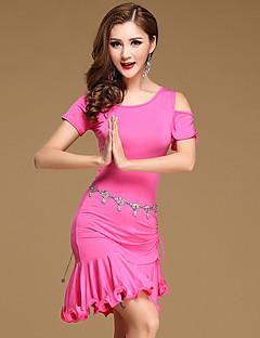 Skal vi mave dance kjoler kvinder træner modal flæser kjole shorts