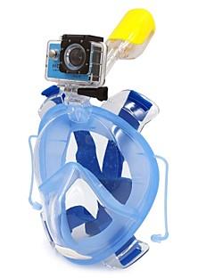 Snorklepakker Snorkelmaske Helmaske Dykning og snorkling Scuba PVC Plastik Silikone Rød Blåt Sort-WINMAX