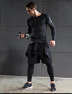 Homens Corrida Shorts Calças Blusas Conjuntos de Roupas/Ternos Respirável Secagem Rápida Elástico em 4 modos ConfortávelPrimavera Verão